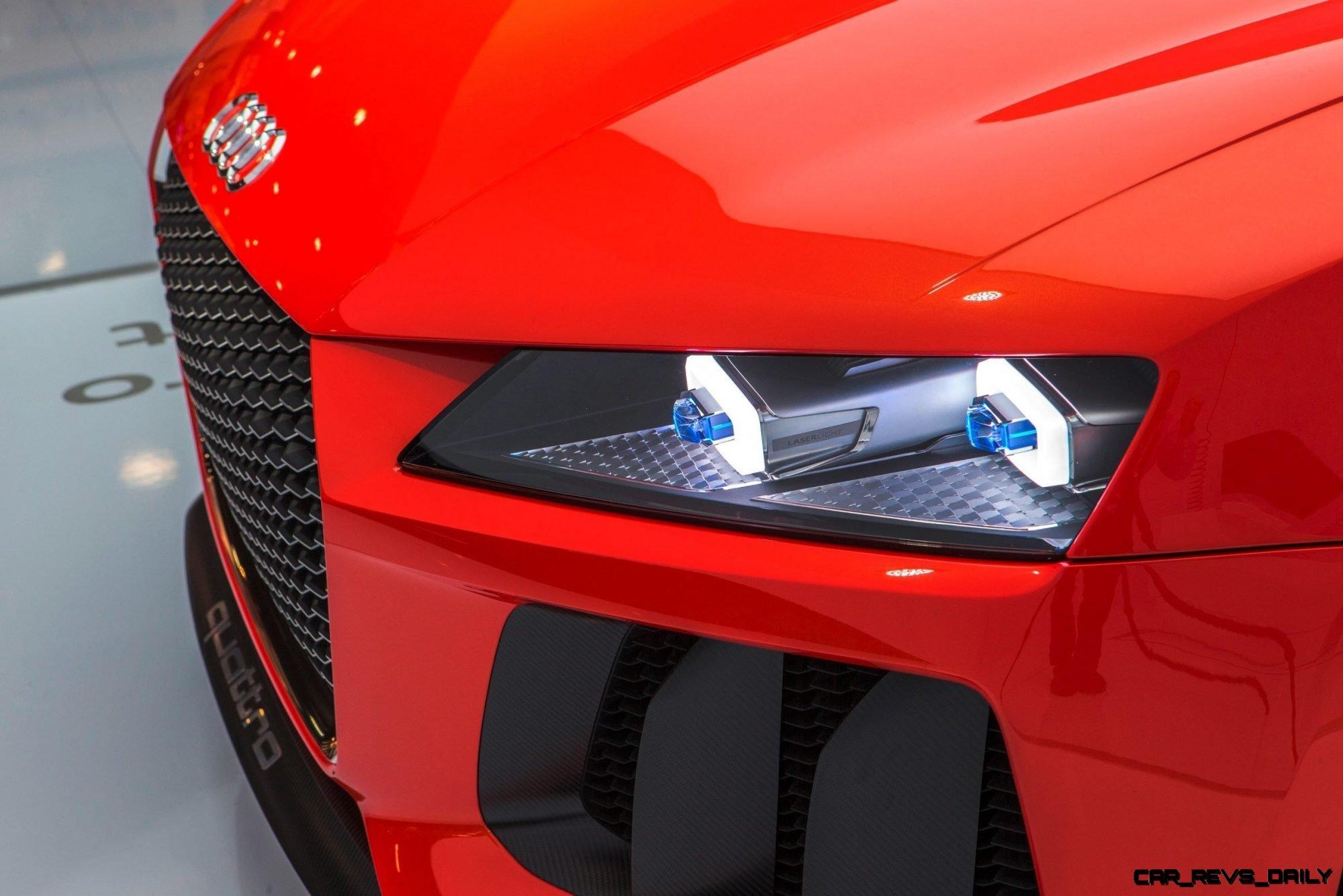 Audi Sport quattro laserlight concept    Detail  Farbe: Plasmarot