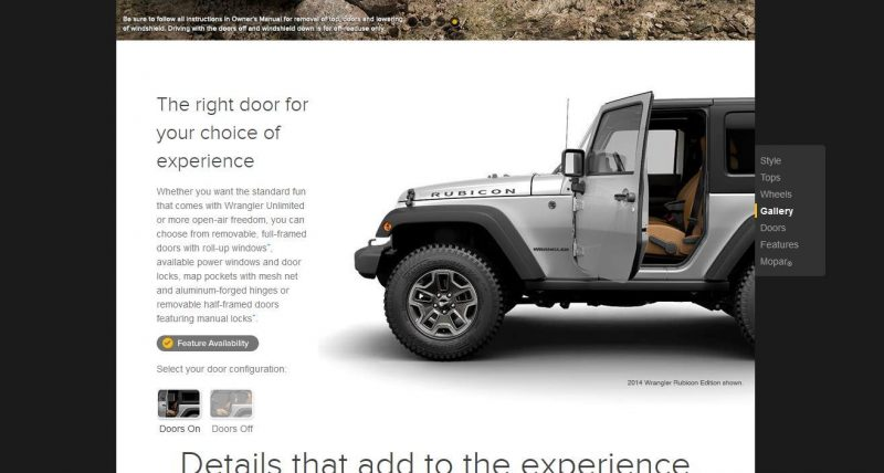 Car-Revs-Daily.com -- Buyers Guide to 2014 JEEP Wrangler Trims, Tops and Doors 73