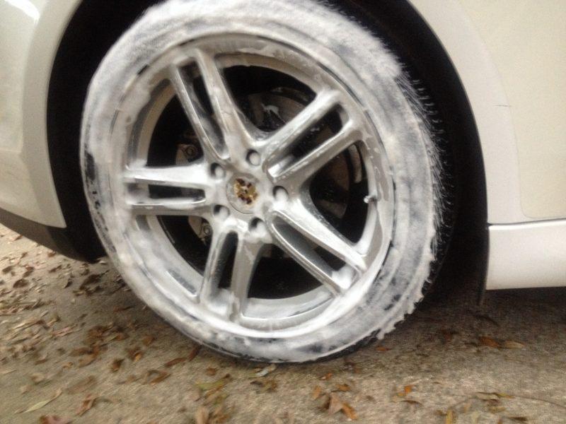 Car-Revs-Daily.com Recommends - Black Magic Tire Foam - Porsche Panamera S 12