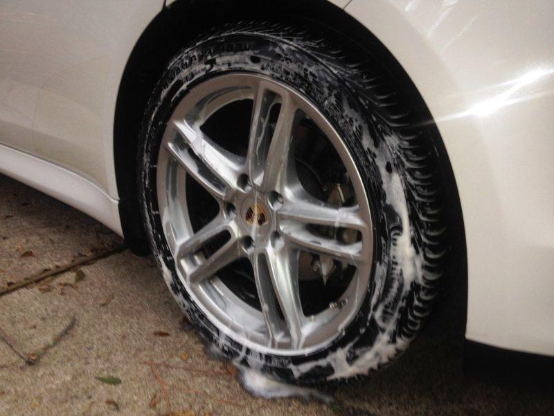 Car-Revs-Daily.com Recommends - Black Magic Tire Foam - Porsche Panamera S 26