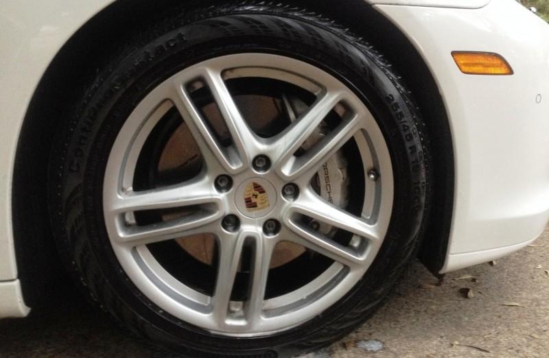 Car-Revs-Daily.com Recommends - Black Magic Tire Foam - Porsche Panamera S 40