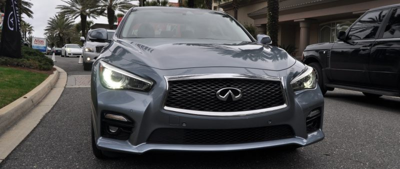 2014 INFINITI Q50S AWD Hybrid -- 1080p HD Road Test Videos & 50 Photos -- AAA+ Refinement and Truly Authentic Steering -- An Excellent BMW 535i Competitor 24