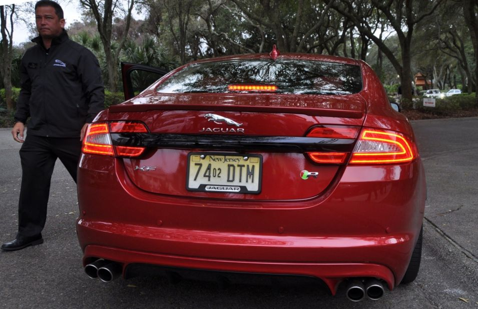 2014 JAGUAR XFR -- Driving Review with Full-Throttle Rolling Sprint + Exhaust Bellow 10