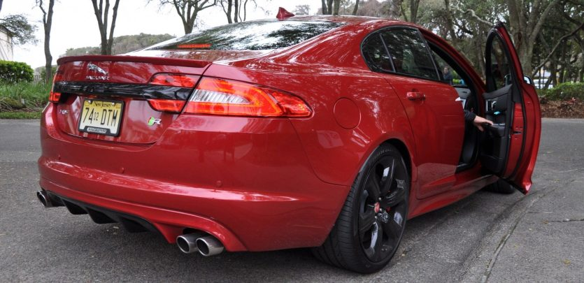 2014 JAGUAR XFR -- Driving Review with Full-Throttle Rolling Sprint + Exhaust Bellow 12