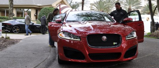 2014 JAGUAR XFR -- Driving Review with Full-Throttle Rolling Sprint + Exhaust Bellow 3