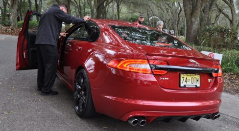 2014 JAGUAR XFR -- Driving Review with Full-Throttle Rolling Sprint + Exhaust Bellow 7