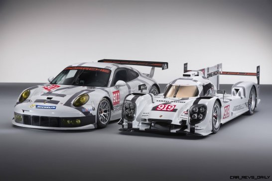 2014 Porsche Motorsport Worldwide- 919 Hybrid-911 RSR- Angled