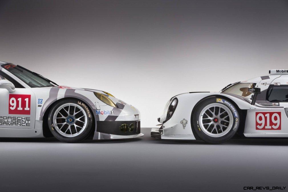 2014 Porsche Motorsport Worldwide- 919 Hybrid-911 RSR- Nose-to-Nose