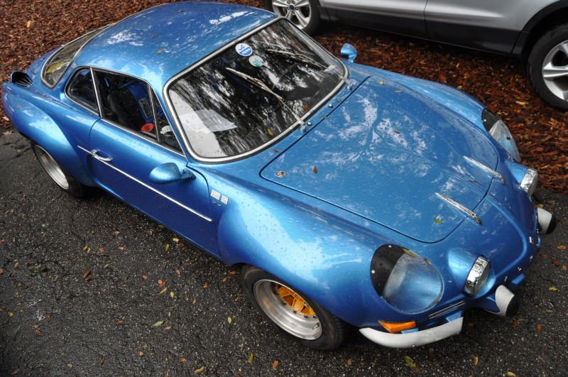 Amelia Parking Lot Finds -- ~1960s (Renault) Alpine A110 -- On Cali Plates, Passenger Seat Full of Suitcases 11