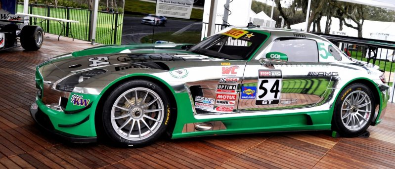 Black Swan SLS AMG GT3 In Detail -- Incredibly Fascinating Aerodynamic Solutions Under Disguise Mirror Wraps 10