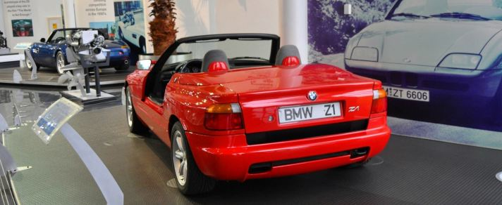 Car Museums Showcase -- 1989 BMW Z1 at Zentrum in Spartanburg, SC -- High Demand + High Price Led Directly to US-Built Z3 1