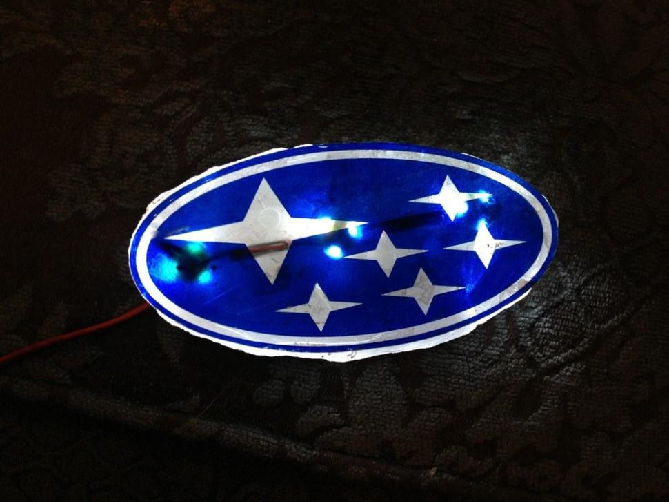 DIY LED Subaru stars emblem_8159089235_l