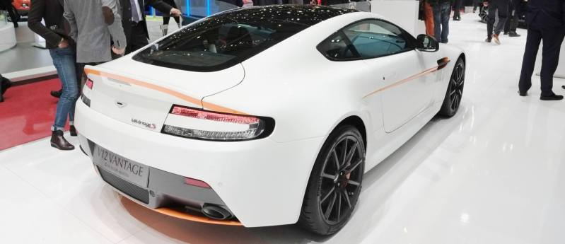 Geneva 2014 ShowFloor Gallery -- Aston Martin Rapide S and Vantage S V12 Wearing N420-Inspired Livery 2