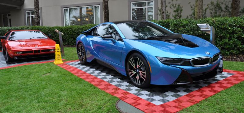 Inimitable Future-Tech 2015 BMW i8 Feeling Chummy with Concept M4 and 1980 BMW M1 -- Fleming Flashbacks 1