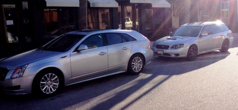 My 30PSI-Boosting Subaru Legacy GT on HD GoPro Video + Photo Comparo vs Cadillac CTS 3.6 Wagon 11