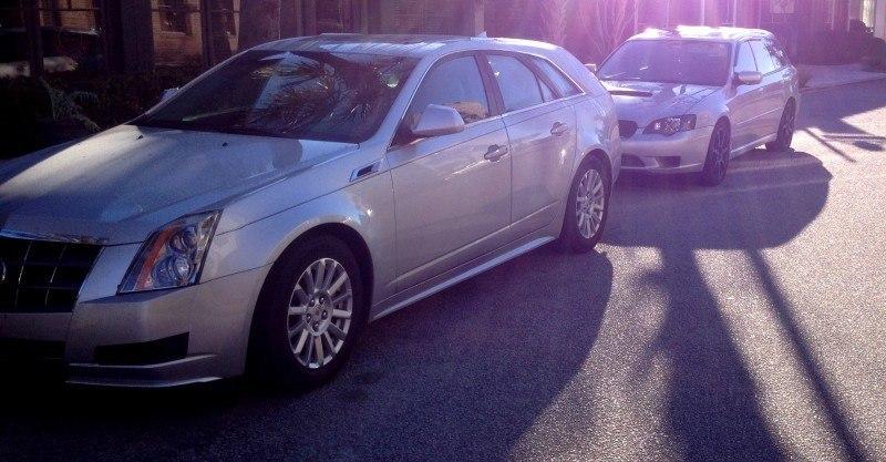 My 30PSI-Boosting Subaru Legacy GT on HD GoPro Video + Photo Comparo vs Cadillac CTS 3.6 Wagon 9