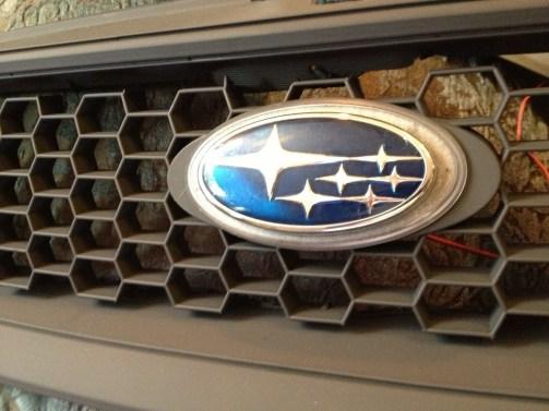 subaru DIY LED badge - indoor testing - emblem comparisons_8072293476_l