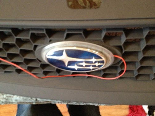subaru DIY LED badge - indoor testing - emblem comparisons_8072296478_l