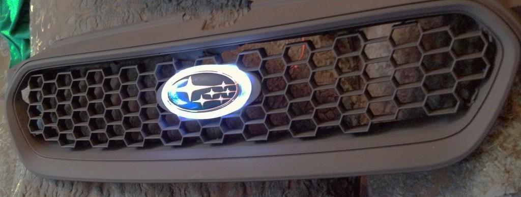 subaru DIY LED badge - indoor testing - emblem comparisons_8072300309_l