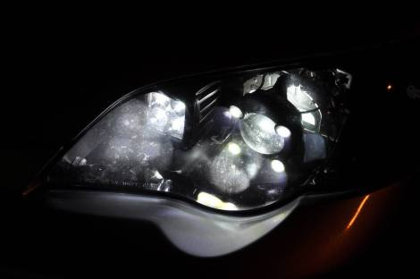 subaru legacy gt DIY led headlights and emblem_8216492832_l