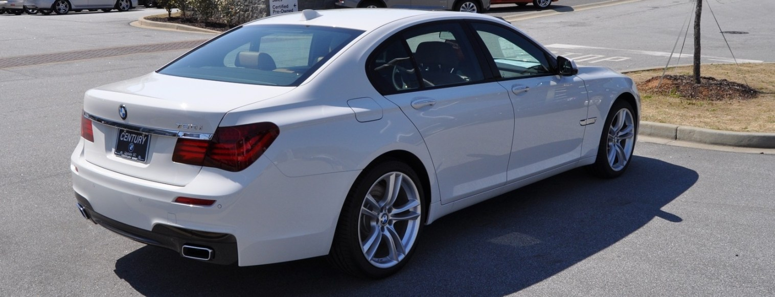 2014 BMW 750Li Definitely Not Beautiful or Focused -- But Less Adrift as SWB 750i with Squared-Off LED Lights Option 20