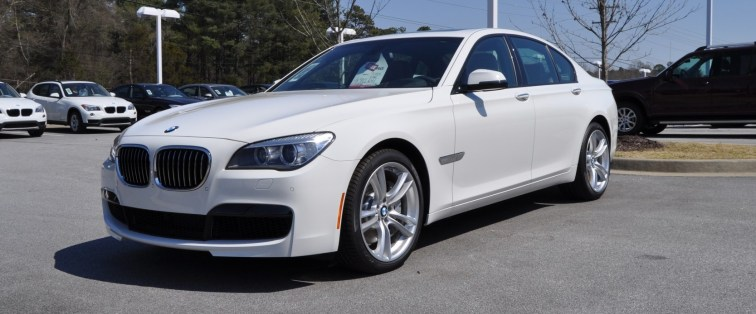 2014 BMW 750Li Definitely Not Beautiful or Focused -- But Less Adrift as SWB 750i with Squared-Off LED Lights Option 7