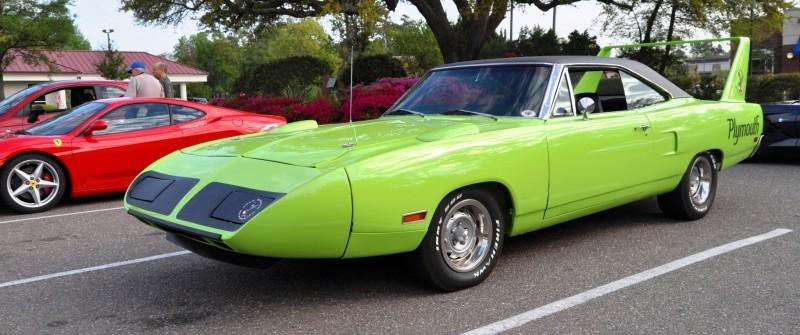 Classic Showcase -- 1970 Plymouth Road Runner Superbird at Charleston Cars Coffee 1