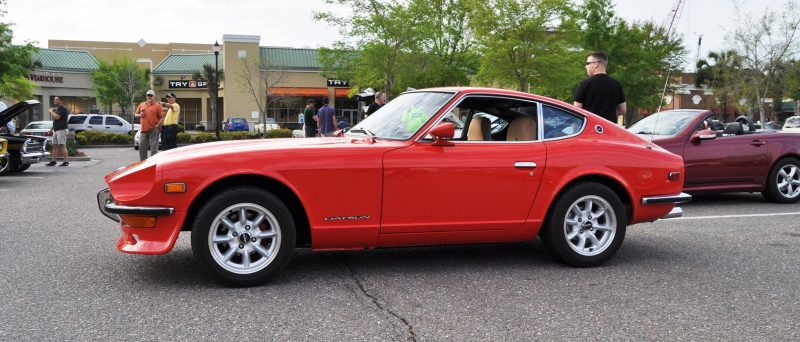 Classic Sports Car Showcase -- Datsun 240Z at Cars & Coffee -- Immaculate in 30 Glowing Orange Photos 12