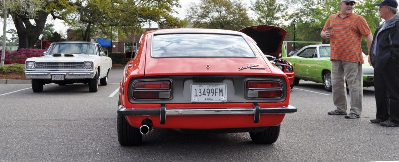 Classic Sports Car Showcase -- Datsun 240Z at Cars & Coffee -- Immaculate in 30 Glowing Orange Photos 21
