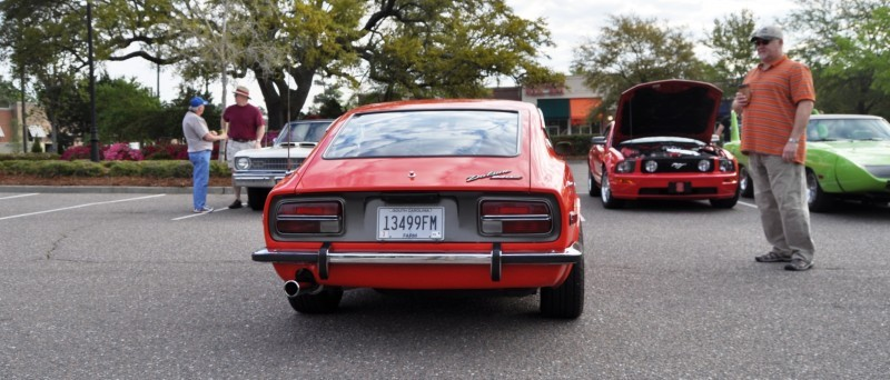 Classic Sports Car Showcase -- Datsun 240Z at Cars & Coffee -- Immaculate in 30 Glowing Orange Photos 22