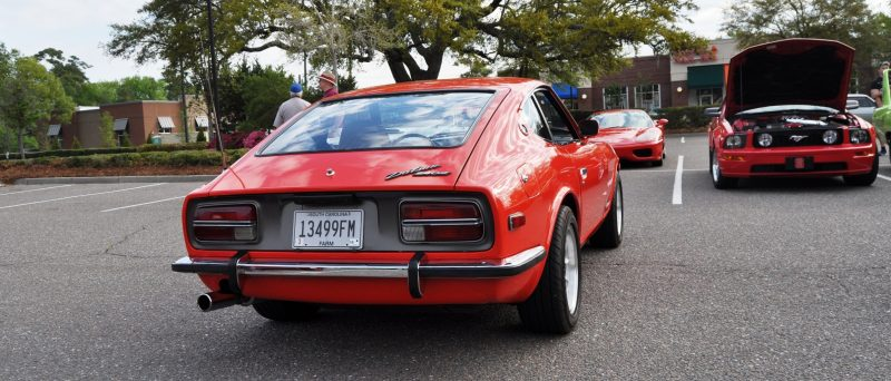 Classic Sports Car Showcase -- Datsun 240Z at Cars & Coffee -- Immaculate in 30 Glowing Orange Photos 23