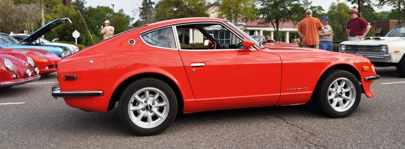Classic Sports Car Showcase -- Datsun 240Z at Cars & Coffee -- Immaculate in 30 Glowing Orange Photos 26