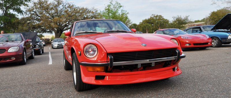 Classic Sports Car Showcase -- Datsun 240Z at Cars & Coffee -- Immaculate in 30 Glowing Orange Photos 3