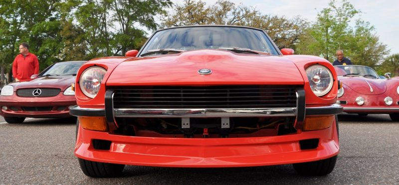 Classic Sports Car Showcase -- Datsun 240Z at Cars & Coffee -- Immaculate in 30 Glowing Orange Photos 5