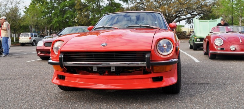 Classic Sports Car Showcase -- Datsun 240Z at Cars & Coffee -- Immaculate in 30 Glowing Orange Photos 6