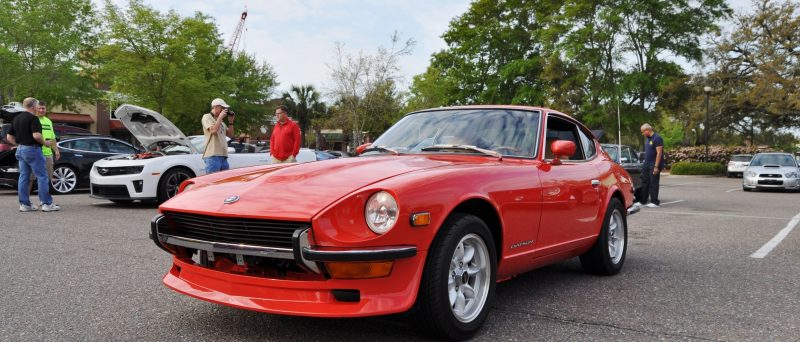 Classic Sports Car Showcase -- Datsun 240Z at Cars & Coffee -- Immaculate in 30 Glowing Orange Photos 8