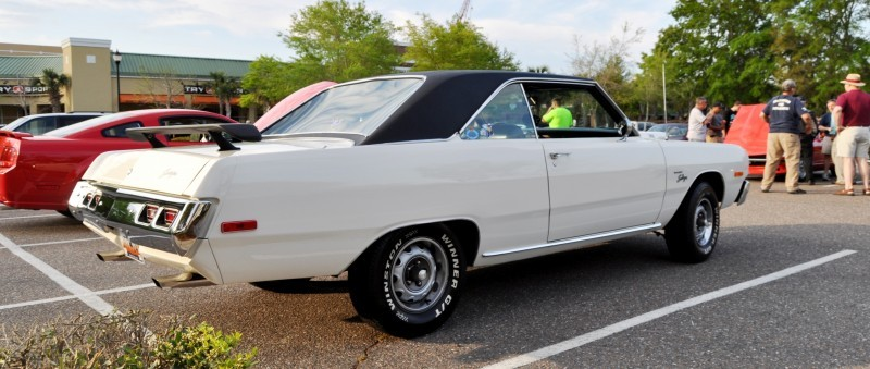 Mini Musclecar Is Ready To Boogie! 1973 Dodge Dart Swinger at Charleston, SC Cars and Coffee 22
