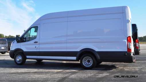 HD Track Drive Review - 2015 Ford Transit PowerStroke Diesel High-Roof, Long-Box Cargo Van 11