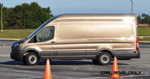 HD Track Drive Review - 2015 Ford Transit PowerStroke Diesel High-Roof, Long-Box Cargo Van 13
