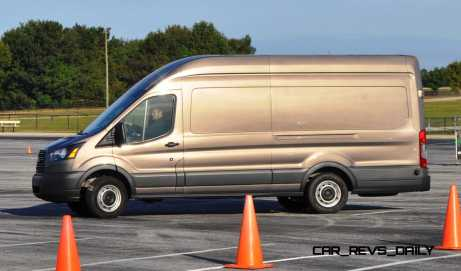 HD Track Drive Review - 2015 Ford Transit PowerStroke Diesel High-Roof, Long-Box Cargo Van 14