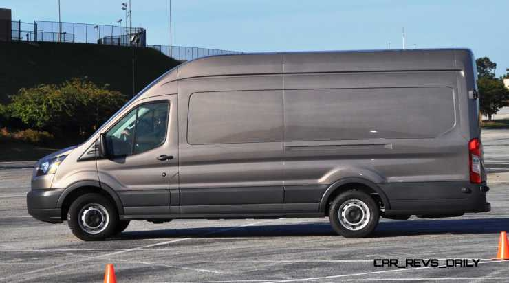 HD Track Drive Review - 2015 Ford Transit PowerStroke Diesel High-Roof, Long-Box Cargo Van 18