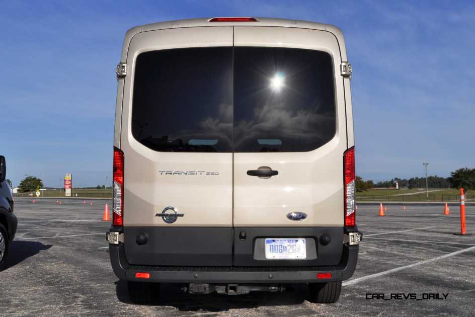 HD Track Drive Review - 2015 Ford Transit PowerStroke Diesel High-Roof, Long-Box Cargo Van 29