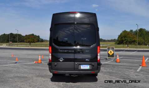 HD Track Drive Review - 2015 Ford Transit PowerStroke Diesel High-Roof, Long-Box Cargo Van 47