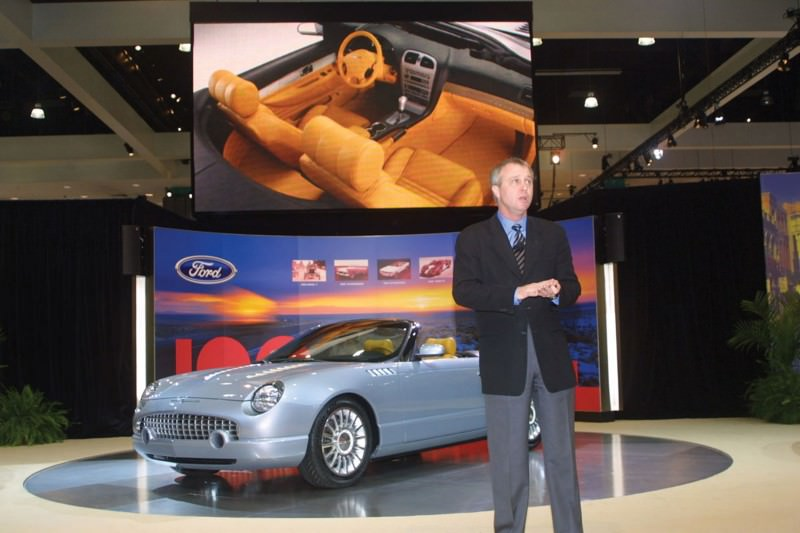 Ford's 2001 Thunderbird Sports Roadster as seen at the 2003 Los Angeles Auto Show