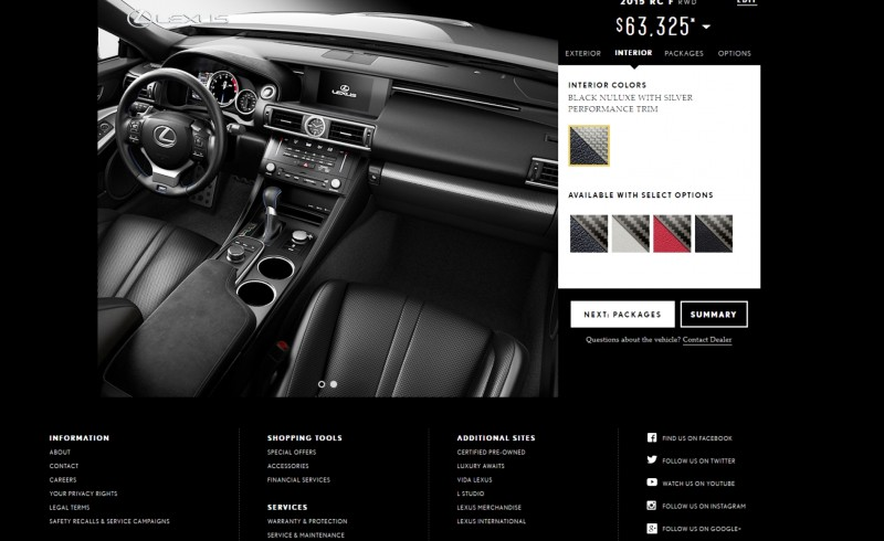 2015 Lexus RC F Colors and Wheels Visualizer 4