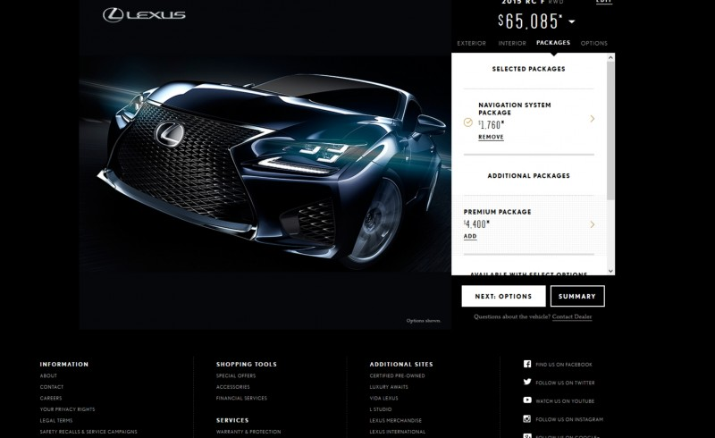 2015 Lexus RC F Colors and Wheels Visualizer 9