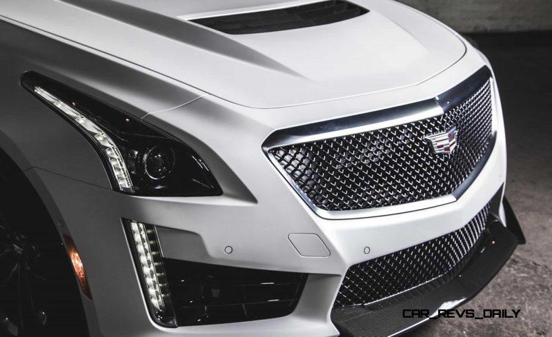 2016 Cadillac CTS-V Crystal White Tricoat 11