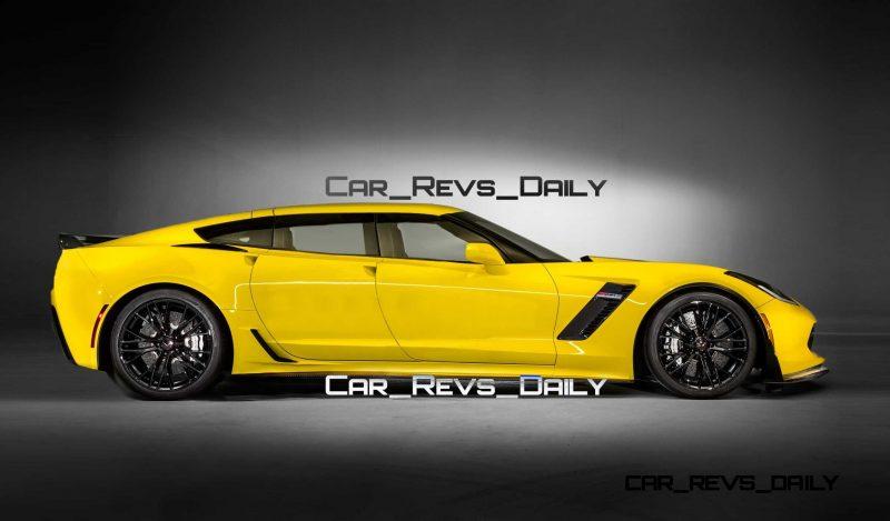 Future Supercar Renderings - 2017 Chevrolet Corvette Z06 Sedan 2