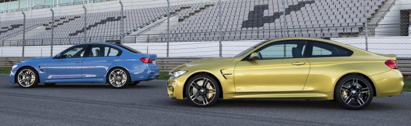 2015 BMW M3 and M4 Meet The Legacy in 52 New Photos With E30 Sport Evolution, E36 M3 Sedan, E46 and E90 2