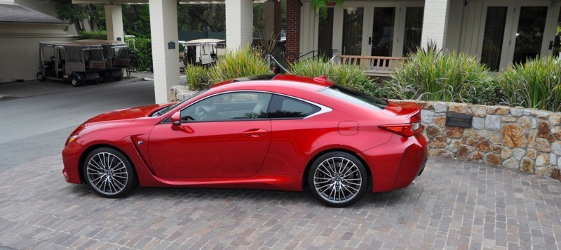 2015 Lexus RC-F in Red at Pebble Beach 104
